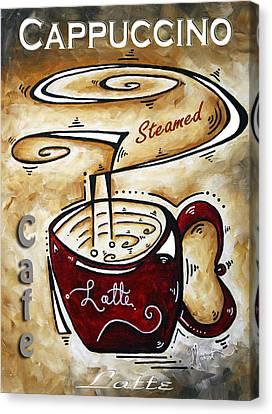 Latte By Madart Canvas Print by Megan Duncanson
