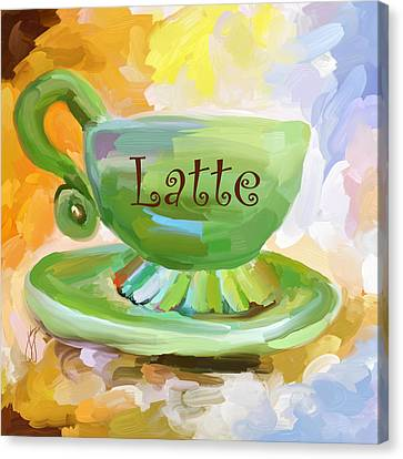 Latte Coffee Cup Canvas Print