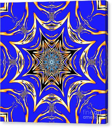 Lattice Star Mandala Canvas Print by Marv Vandehey