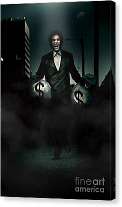 Bank Robber Canvas Print - Laughing All The Way From The Bank by Jorgo Photography - Wall Art Gallery