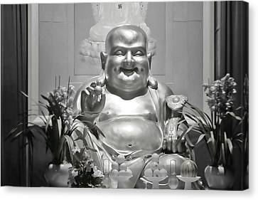 Laughing Buddha - A Symbol Of Joy And Wealth Canvas Print by Christine Till