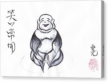 Laughing Buddha Canvas Print by Oiyee At Oystudio