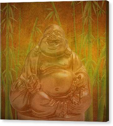 Isolated Canvas Print - Laughing  Buddha by Art Spectrum