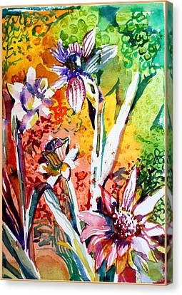 Laughing Flowers Canvas Print by Mindy Newman