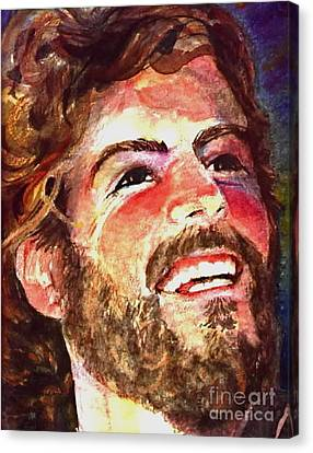 Laughing Jesus Canvas Print by Reveille Kennedy