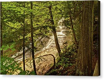 Laughing Whitefish Falls 2 Canvas Print by Michael Peychich
