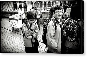 Laughter In The Street Canvas Print by Daniel Gomez