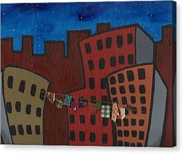 Laundered Night Canvas Print by Sara  Burns
