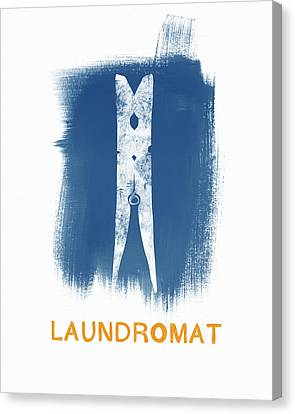 Laundromat- Art By Linda Woods Canvas Print by Linda Woods