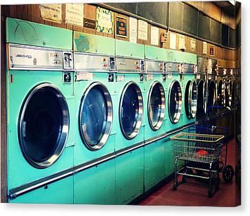 Laundry Canvas Print - Laundromat by Vivienne Gucwa