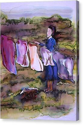 Laundry Day Canvas Print by Carolyn Doe
