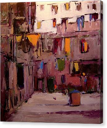 Laundry Day In Venice Canvas Print by R W Goetting