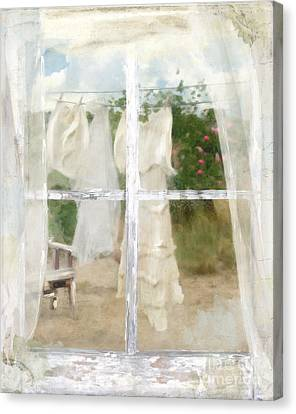Laundry Day Canvas Print by Mindy Sommers