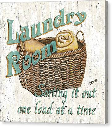 Laundry Room Sorting It Out Canvas Print by Debbie DeWitt
