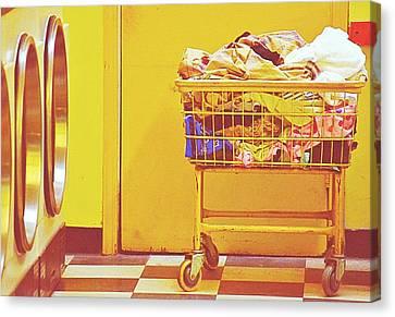 Laundry Mat Canvas Print - Laundry Time by Isabel Medina