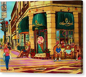 Laura Secord Candy And Cone Shop Canvas Print by Carole Spandau
