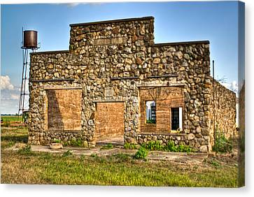 Laura Town Ghost Town In Arkansas  Canvas Print by Douglas Barnett