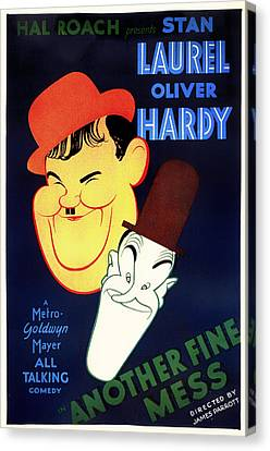 Laurel And Hardy - Another Fine Mess 1930 Canvas Print