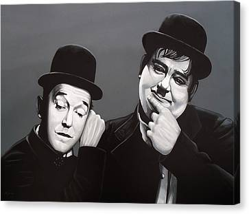 Laurel And Hardy Canvas Print by Paul Meijering
