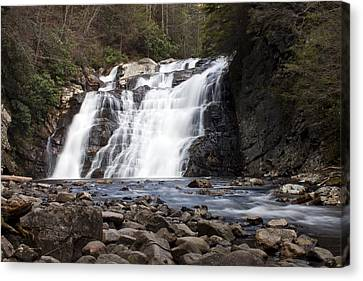 Laurel Falls In Spring #1 Canvas Print by Jeff Severson