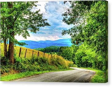 Laurel Hill View Canvas Print by Dale R Carlson
