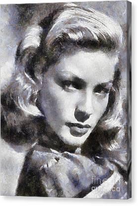 Lauren Bacall By Sarah Kirk Canvas Print
