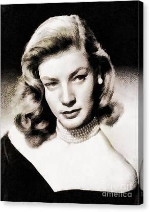 Lauren Bacall, Hollywood Legend By John Springfield Canvas Print by John Springfield