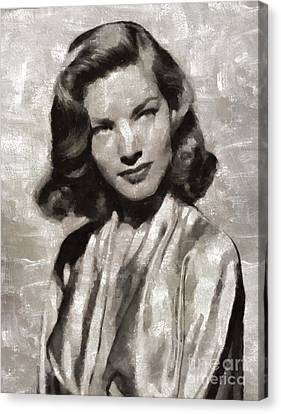 Lauren Bacall, Hollywood Legend By Mary Bassett Canvas Print