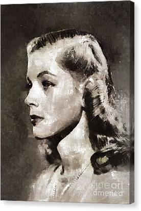Lauren Bacall, Vintage Actress Canvas Print by Mary Bassett