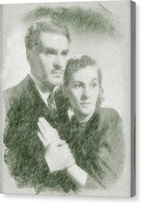Laurence Olivier And Joan Fontaine Canvas Print