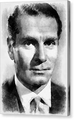 Laurence Olivier Hollywood And British Actor Canvas Print by Frank Falcon