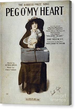 Aodng Canvas Print - Laurette Taylor (1884-1946) by Granger