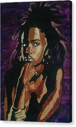 Lauryn Hill Canvas Print by Rachel Natalie Rawlins