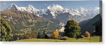 Wengen Canvas Print - Lauterbrunnen Valley With Mt Eiger, Mt by Panoramic Images