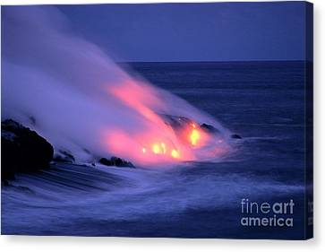 Lava And Pink Smoke Canvas Print by William Waterfall - Printscapes