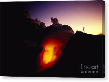 Lava At Dawn Canvas Print by Ron Dahlquist - Printscapes