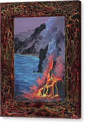 Canvas Print featuring the painting Lava Flow by Darice Machel McGuire