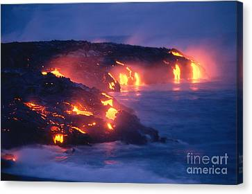 Lava Flow Canvas Print by Peter French - Printscapes