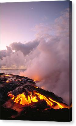 Lava Flows At Sunrise Canvas Print by Peter French - Printscapes
