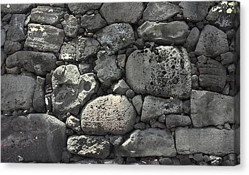 Lava Rock Wall 1 Dark Canvas Print