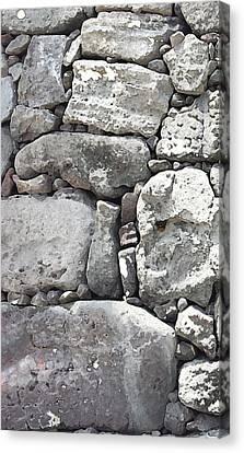 Lava Rock Wall 1 Triptych L Canvas Print