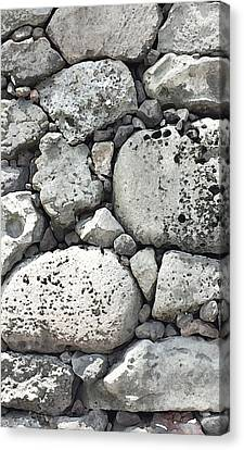Lava Rock Wall 1 Triptych C Canvas Print