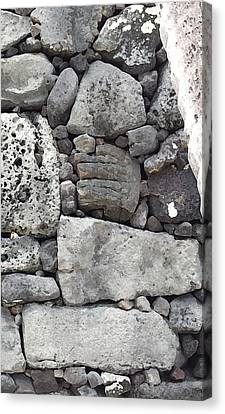 Lava Rock Wall 1 Triptych R Canvas Print