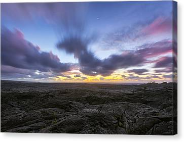 Lava Twilight Canvas Print by Ryan Manuel