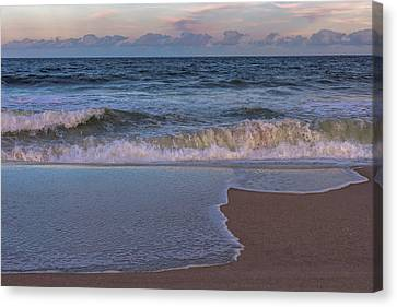 Lavallette New Jersey Beach Tide 2016 Canvas Print by Terry DeLuco