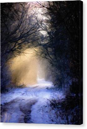 Lavander Snow  Canvas Print