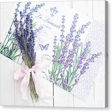 Canvas Print featuring the photograph Lavende by Rebecca Cozart
