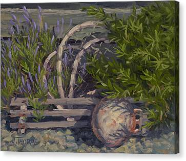 Lavender And Lobster Canvas Print by Jane Thorpe