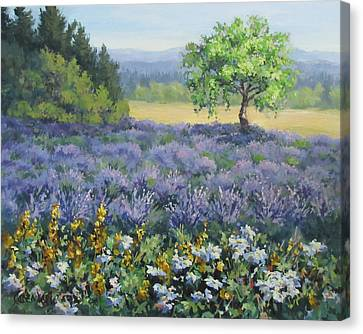 Lavender And Wildflowers Canvas Print