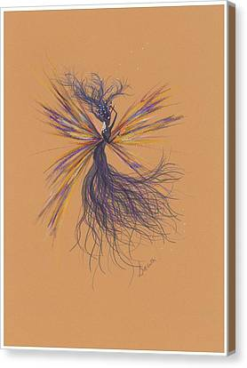 Canvas Print featuring the drawing Lavender Breeze... by Dawn Fairies